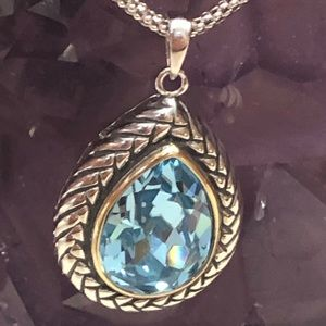 Swarovski with sterling and 14k gold necklace NWT